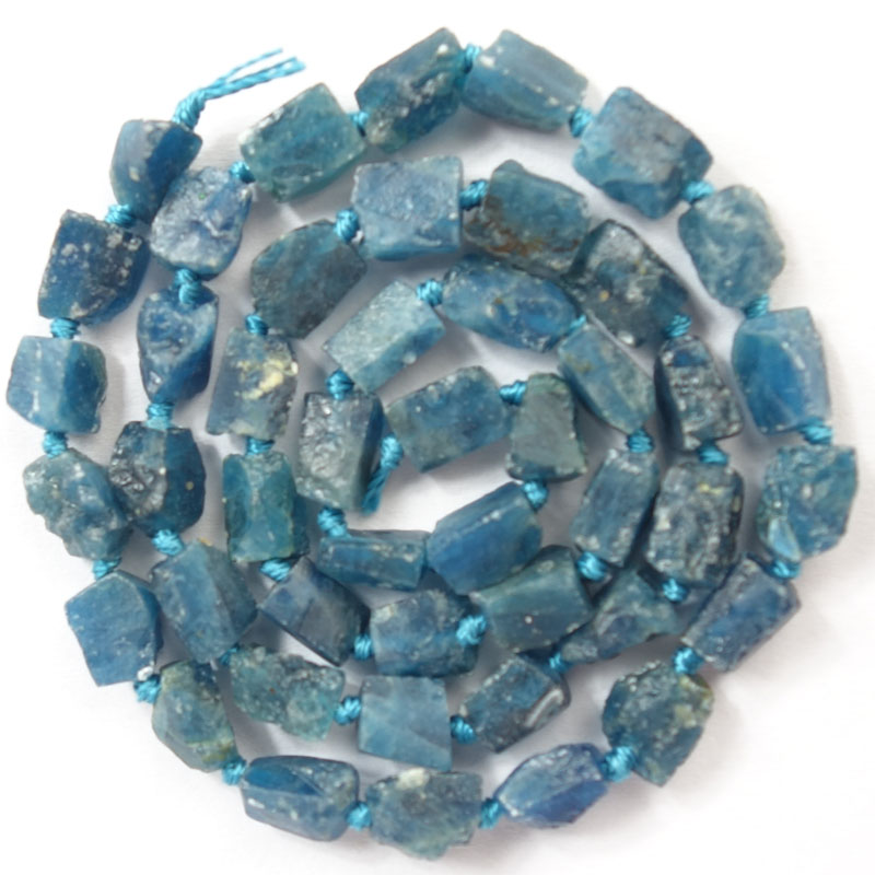 Free Shipping!!! 1 strand(Approx:47Pcs)Natural Raw stone Ocean Kyanite Loose Bead 15.5 inch M155 For Jewelry Making