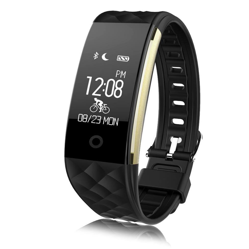 Prix pour Nouveau s2 bluetooth smart watch fitness tracker ip67 étanche en temps réel moniteur de fréquence cardiaque smartwatch pour android 4.3 ios 7.0