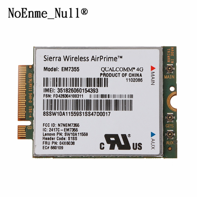 EM7355 Gobi5000 4G LTE WWAN Card 04W3801 For Lenovo X240 W540 T440P T431S new sierra gobi5000 em7355 lte evdo hspa 42mbps ngff card 4g module for lenovo thinkpad t431s t440 t440s t440p t540p w540 x240