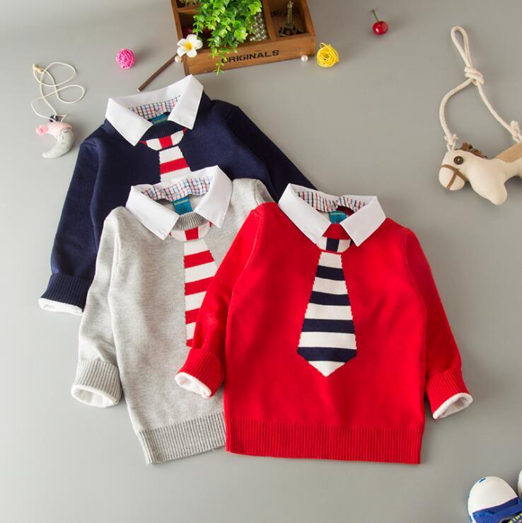 870c71017 wholesale children baby boy basic grey navy blue red sweater kids ...