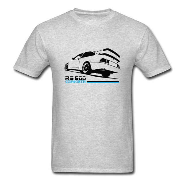 2017 hot sale men 39 s printed t shirt cosworth rs500 retro for T shirt print express