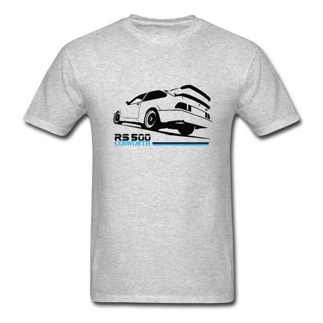2017 Hot Sale Men's Printed T Shirt Cosworth RS500 Retro Car Tee ...