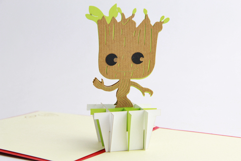 Love 3D Dancing Groot Bobble Head/ Pop up card Guardians of the Galaxy NEW NM I am Groot guardians team up vol 2