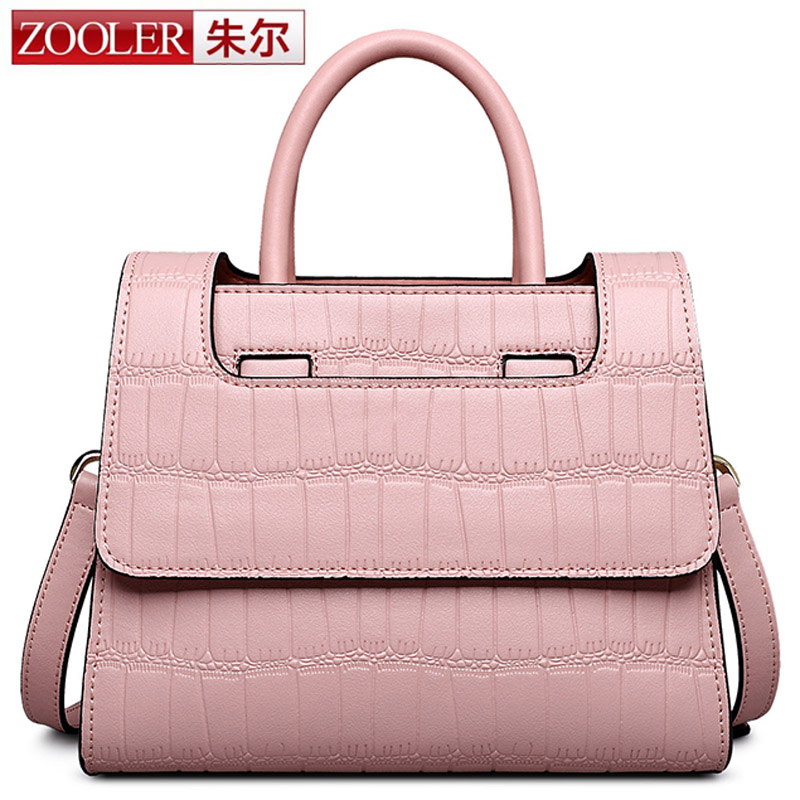 ZOOLER Anti-theft Women Bags Handbag Famous Brand 2017 High Quality Women Cowhide Shoulder Messenger Bag Sweet Tote Bag Bolsa zooler 100% real natural genuine leather women small handbag high quality famous design brand bags tassel shoulder messenger bag
