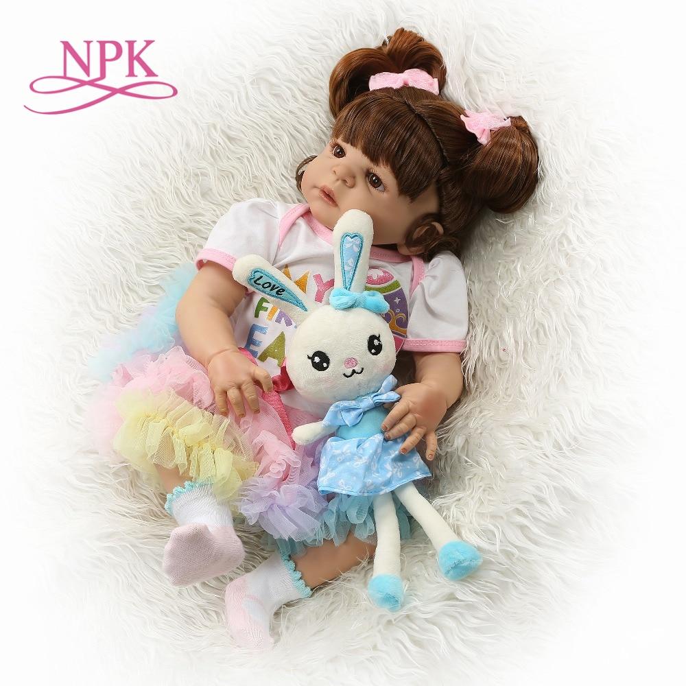 NPK 22 นิ้ว 56 ซม. ซิลิโคนทารกแรกเกิด Reborn ตุ๊กตากระต่ายทารกตุ๊กตาเหมือนจริง Bebe ตุ๊กตาสำหรับเด็กวันเกิด-ใน ตุ๊กตา จาก ของเล่นและงานอดิเรก บน   1
