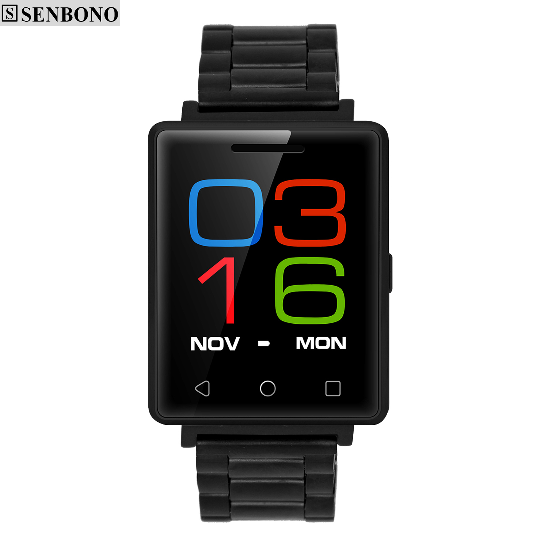 imágenes para SENBONO G7 deporte moda bluetooth reloj inteligente MTK2502 smartwatch apoyo sueño siri heart rate monitor sim tarjeta TF MP3 MP4