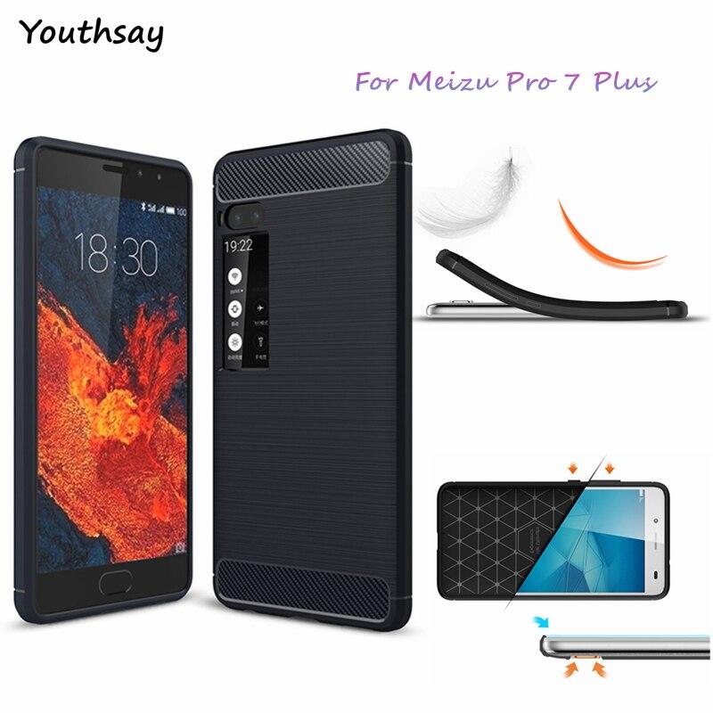 Youthsay For Fundas Meizu Pro 7 Plus Case Soft TPU Carbon Fiber Case For Meizu Pro 7 Plus Phone Cover For Case Meizu Pro 7 Plus
