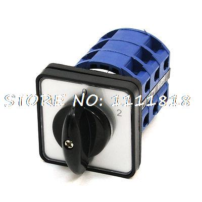 660V 25A ON/OFF/ON 3 Phase 12 Terminal Rotary Cam Changeover Combination Switch 660v 25a on off on 3 phase 12 terminal rotary cam changeover combination switch