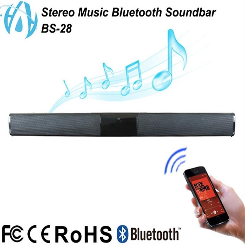 Wireless Bluetooth Soundbar Stereo Speaker TV Home Theater TF USB Sound Bar Best Bluetooth Speaker Loudspeaker for Phone and PC