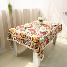 New Table Cloth Cotton And Linen Tablecloth National Wind Bohemian Cover Towel Fabric Home Decoration