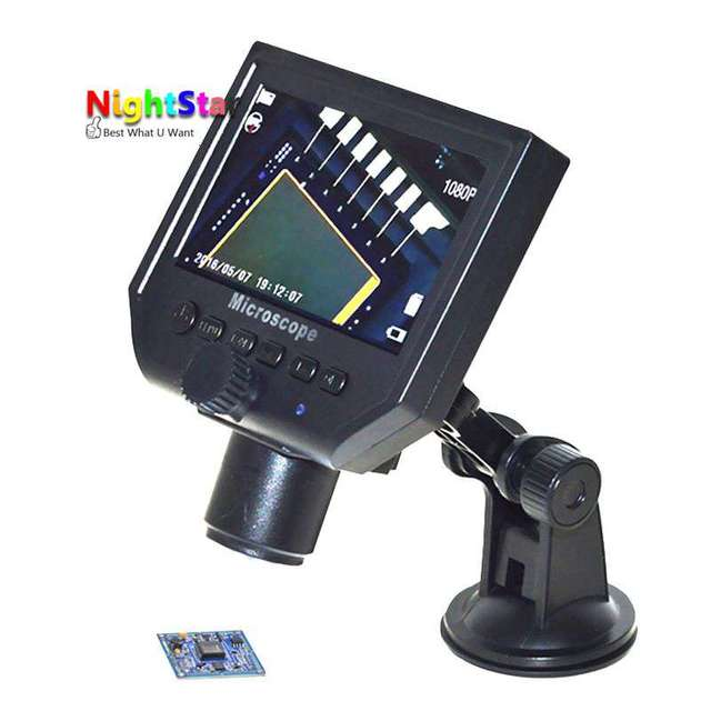 US $61 07 |600 Digital Magnifier Microscope Endoscope Display Screen  Cellphone Repair For iPhone 8 7 6 5 Samsung-in Microscopes from Tools on