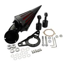 Motorcycle Chrome/Black Spike Air Cleaner Intake Filter Kit For Harley 2002-2007 Touring Softail Fat Boy Road King
