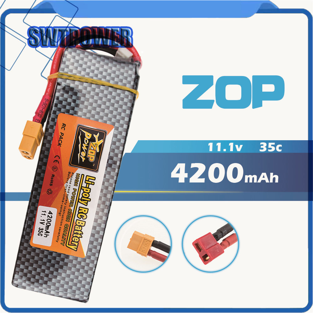 2Pcs Zop 3S 11.1v 4200mah Lipo Battery 30c For Helicopter Drone Quadcopter Four axis RC Car Boat power 3s lipo battery 11.1 2600mah 11 1v 3s 30c lipo battery