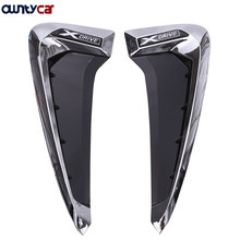2Pcs/set ABS Car Front Fender Side Air Vent Cover Trim Stickers Car-styling For BMW X5 f15 Acessories 2014+ Newest
