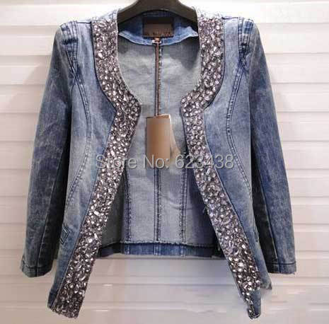 2015 Spring women clothes fashion tops denim jackets outerwear female short korean coats and jackets for women