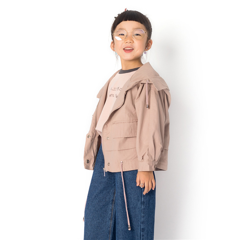 Childrens Hooded Short Jacket Hooded Baby Boy Clothes Autumn Zipper Shirt Girls Coat Trench CoatChildrens Hooded Short Jacket Hooded Baby Boy Clothes Autumn Zipper Shirt Girls Coat Trench Coat