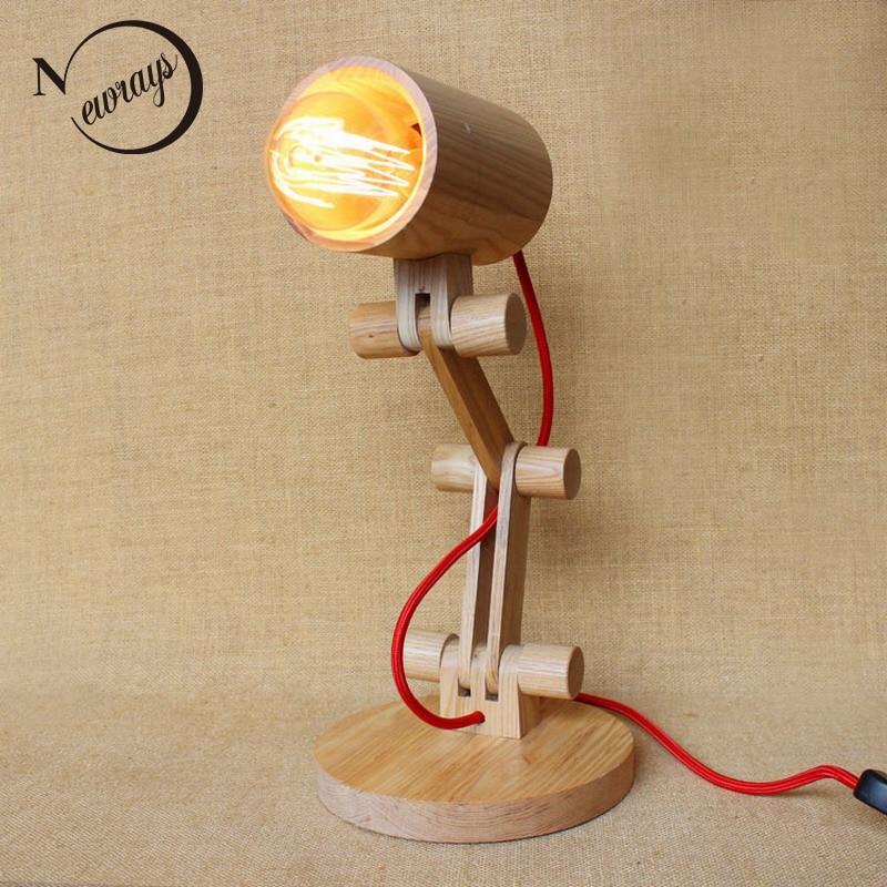 modern lovely style nature wooden base swing arm desk lamp table lamp for bedroom/study bar coffee quadral aurum base viii nature oak