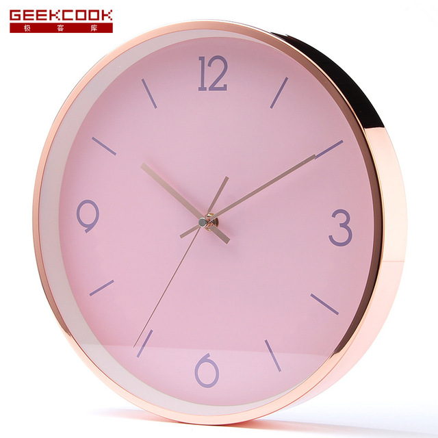 12 inches Saat Reloj Clock Metal Mute Wall Clock Relogio de parede Duvar Saati Horloge Murale Home Decoration Wall Clocks 30CM