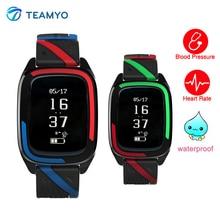 Teamyo DB05 артериального давления смотреть сердечного ритма фитнес-Браслет Смарт Sleep Monitor stappenteller Smart Band IP68 Водонепроницаемый