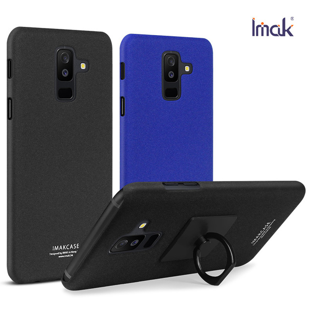 new style 67a56 a8a97 US $7.24 5% OFF|IMAK Ring Holder Hard Case for Samsung Galaxy A6 Plus 2018  Back cover Matte Thin Phone case for Coque Samsung A6s 2018 Cases A6+-in ...