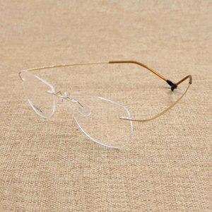 Image 5 - Lunettes sans bords, monture en alliage de titane, monture optique, haute qualité, pour hommes et femmes, à la mode