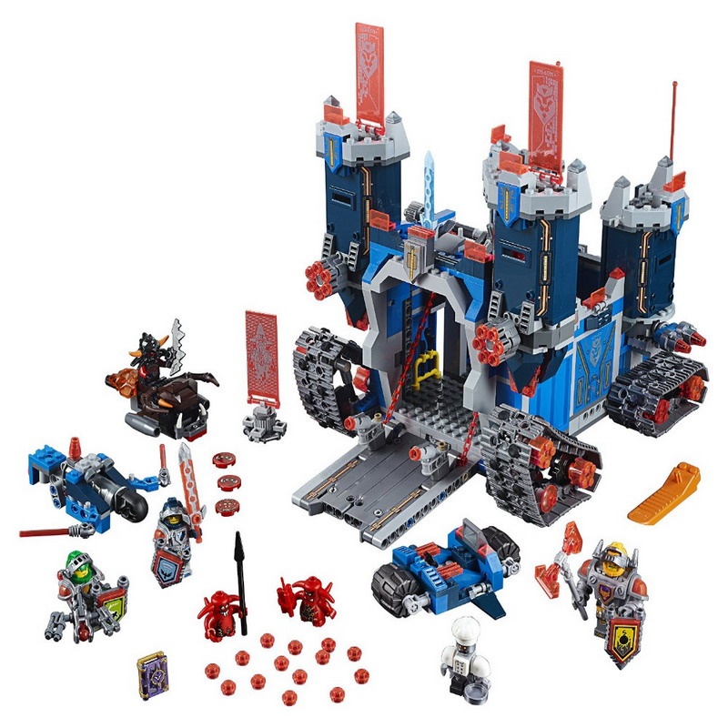 1115Pcs LEPIN 14006 Nexo Knights Axl The Fortrex Figure Blocks Educational Construction Building Toys For Children Compatible lepin nexo knights axl the fortrex combination marvel building blocks kits toys compatible legoe nexus