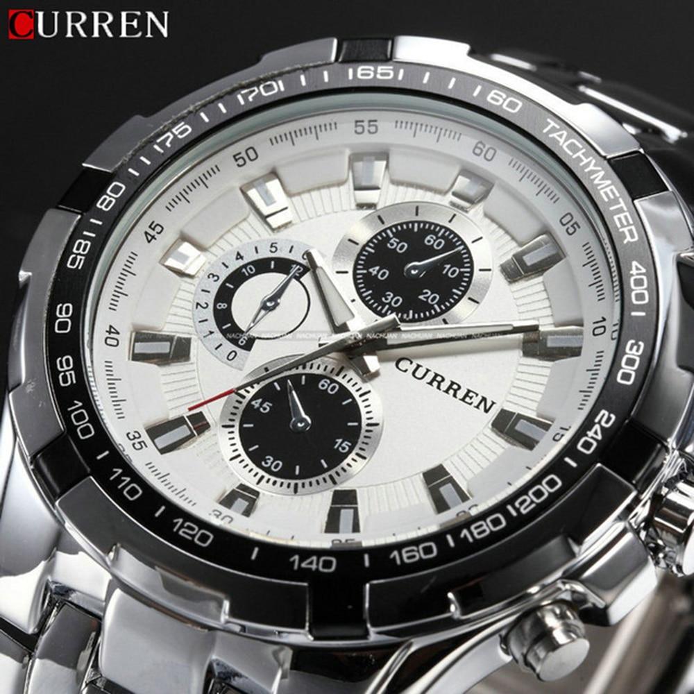 Neue Relogio Masculino Curren 8023 Luxus Marke Uhren Männer Quarz Mode Sport Männliche Beiläufige Uhr Voller Stahl Militär Uhren
