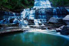 Water Landscapes Forests Canada Waterfalls Ontario Scenery Landscape Fabric Silk Poster Print Home Decoration B0722-48(China)