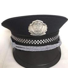 Новая Черная полицейская шляпа для взрослых, Полицейская шляпа для костюмированной вечеринки, кепка для костюмированной вечеринки на Хэллоуин, аксессуары для маскарада на Хеллоуин