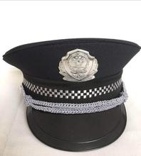 new black police hat for adults cosplay halloween cap accessories