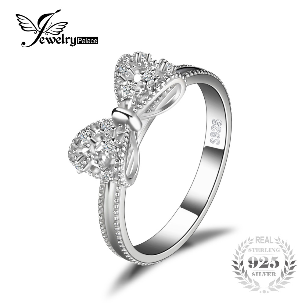 JewelryPalace Arco Anniversario di Matrimonio Anello Per Le Donne Soild 925 Sterling Silver Jewelry Per Party Girl Friend Regalo