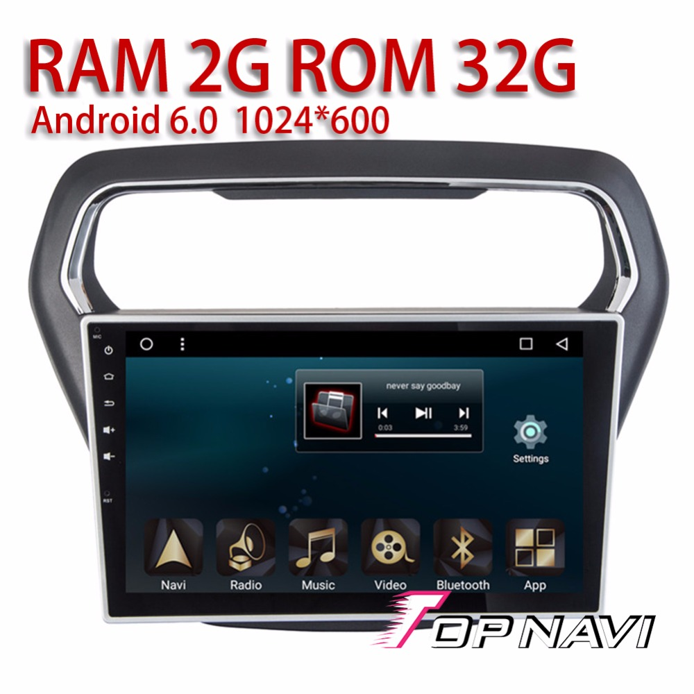 Topnavi Car Radio for Ford ESCORT 2014 2015 2016 10.1'' Android 6.0 Automotive Multimedia PC with Audio output Free Software