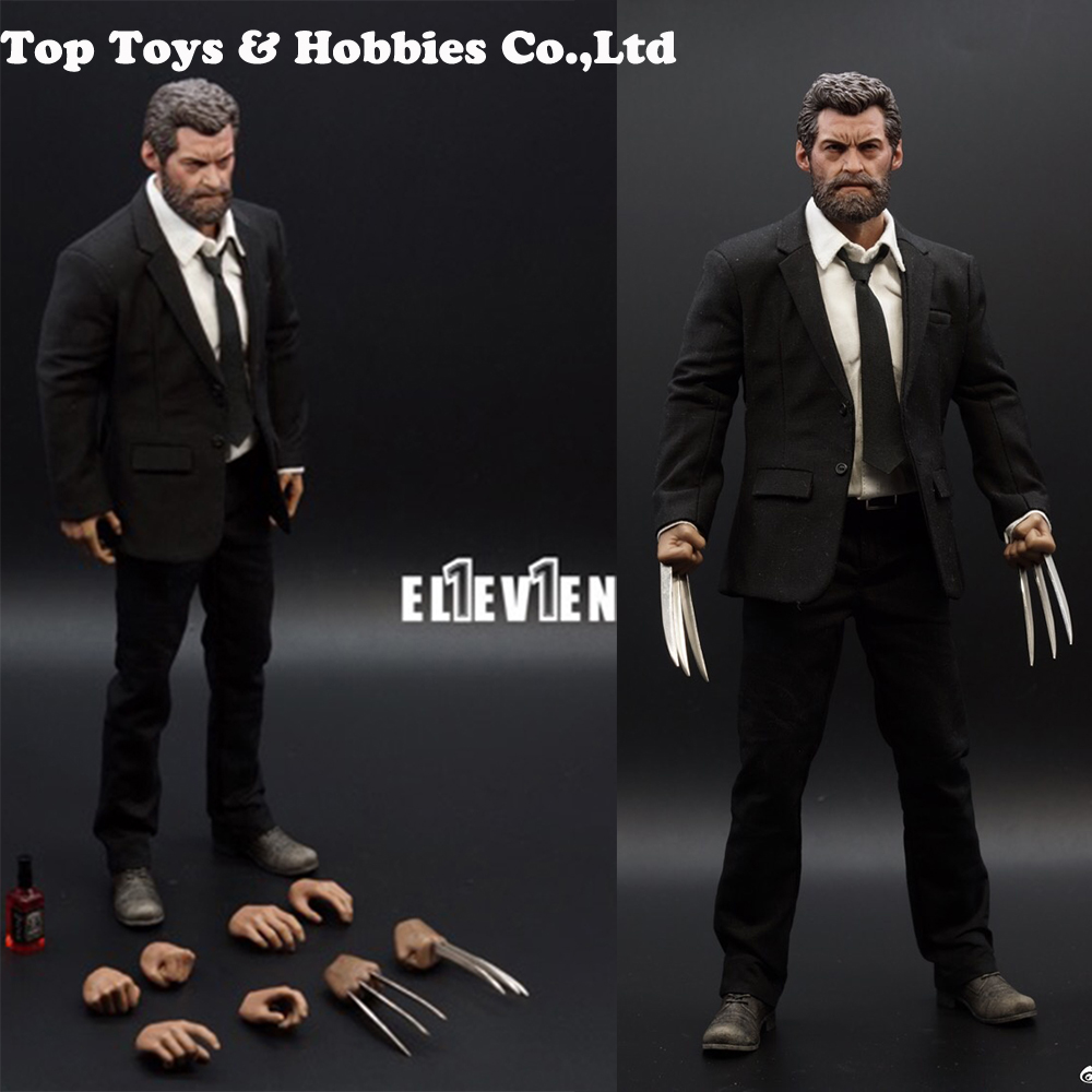 Full set figure Eleven 1/6 Scale Logan Wolverine 3.0 Hugh Jackman Uncle Wolf Elderly Version W claws hands body clothing box