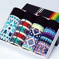 Top Quality Mens Boxer Soft Cotton Underwear 3D Print Ventilation Breathable Panties Male Plus Size M - 2XL Xmas Gift Box Cuecas