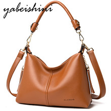 купить Women Wild Handbags Solid color Shoulder Bags For Women Messenger Bag PU tote Crossbody Bag New High capacity brown Female bag по цене 1288.94 рублей