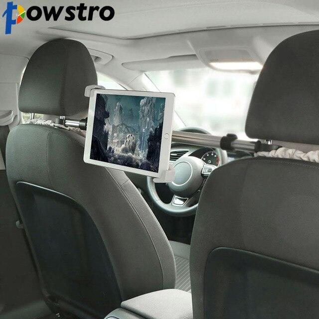 Powstro Tablet Chủ Núi Khung Khung Điều Chỉnh Khả Năng Mở Rộng cho 7-10.5 inch xoay Nhôm Car Seat cho Máy Tính Bảng iPad Mini 2 3 4