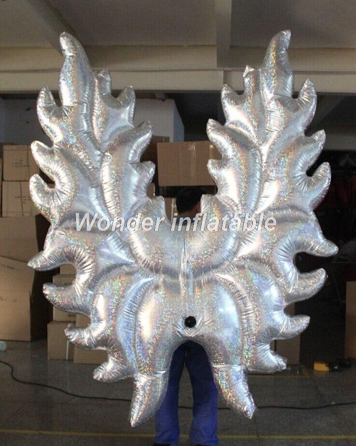 Beliebteste silberne Farbe riesigen aufblasbaren Engel Silber Flügel - Partyartikel und Dekoration - Foto 2