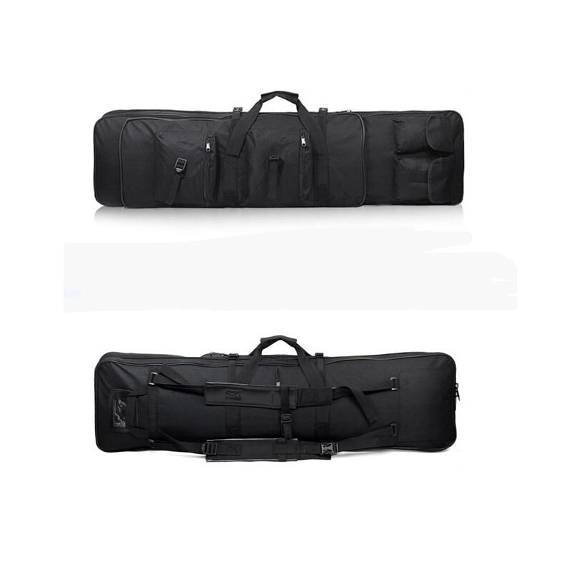 47 pouces 120 CM SWAT double tactique robuste Messenger grande capacité sac étui de transport pour fusil pistolet noir en gros