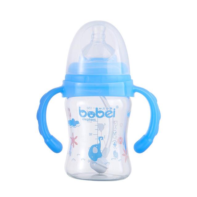 Top Quality Baby Bottle 150 ml Bottiglia Vidro Botella de Alimentação Automática de Água Garrafa bebê Recém-nascido de Boca Larga Mamadeira Borraccia Venda