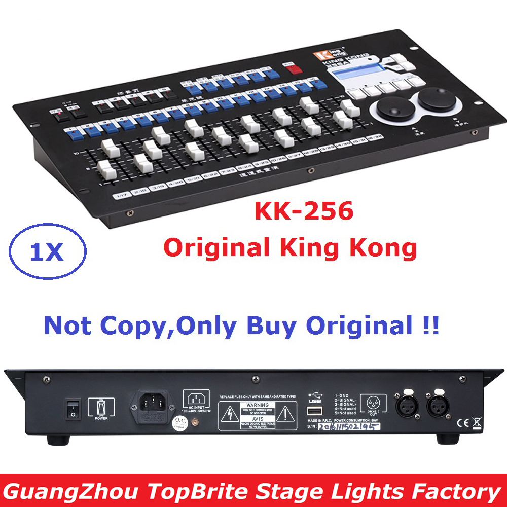 Carton Package King Kong 256 Professional Stage Lights Controller DMX Console Bar KTV Theatrical Lighting Console DHL/FedEx Ship dmx512 digital display 24ch dmx address controller dc5v 24v each ch max 3a 8 groups rgb controller
