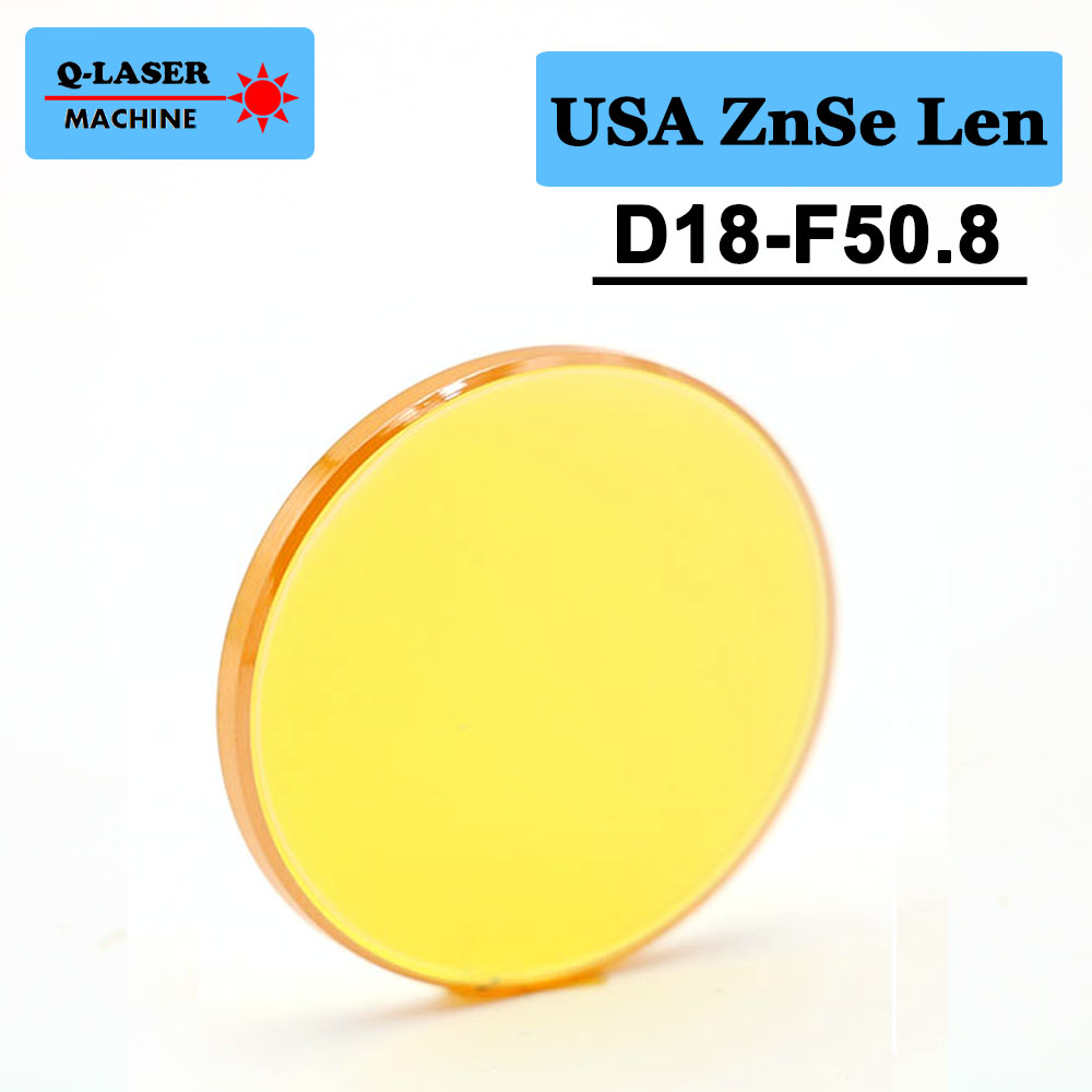 USA CVD ZnSe Co2 Laser Focus Lens 18mm Diameter FL50.8mm 2inches For CO2 Laser Engraving And Cutting Machine
