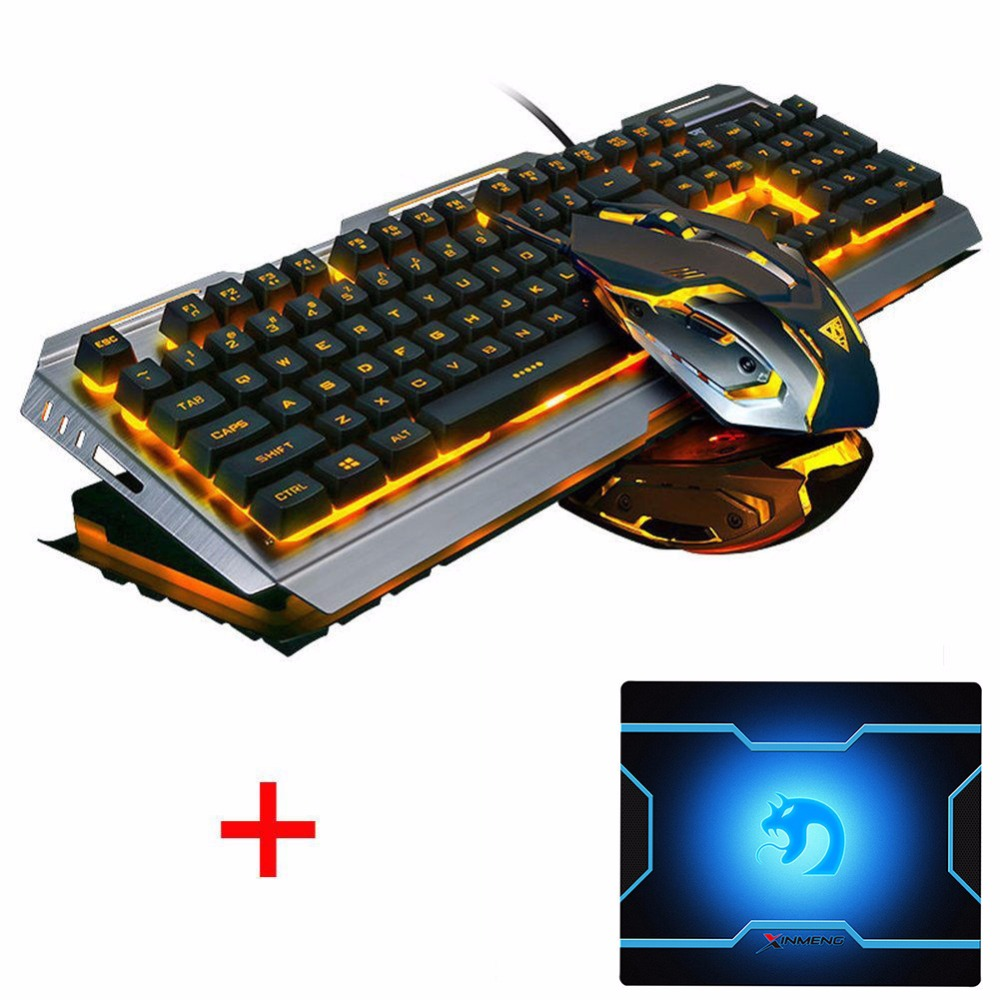 768d733f59f Aliexpress.com : Buy V1 Wired Rainbow Backlit illuminated Ergonomic Usb  Gaming Keyboard Gamer + 3200DPI Optical Game Mouse Laptop Computer+ Mouse  pad from ...