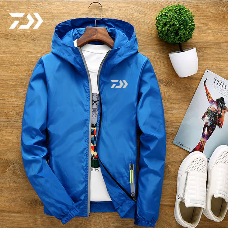New Daiwa Fishing Clothing Spring Autumn Outdoors Fishing Jacket With Hat Waterproof Wearing Clothes Sport Loose Coat Male