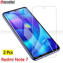2Pcs/lot Tempered Glass for Xiaomi Mi Redmi Note 7 Screen Protector 9H 2.5D Explosion Proof For Protective