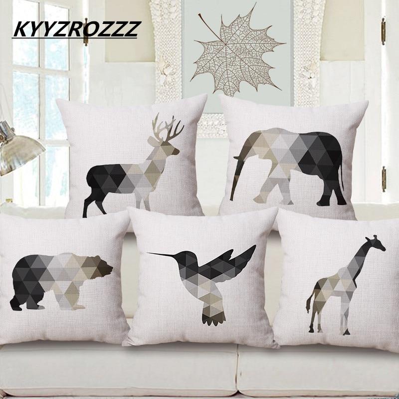 KYYZROZZZ Північні геометричні тварини - Домашній текстиль
