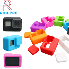 Go Pro Accessories Action Camera Case Protective Silicone Case Skin +Lens Cap cover for GoPro Hero 6 7 Black Hero 5 Camera Mount цена и фото