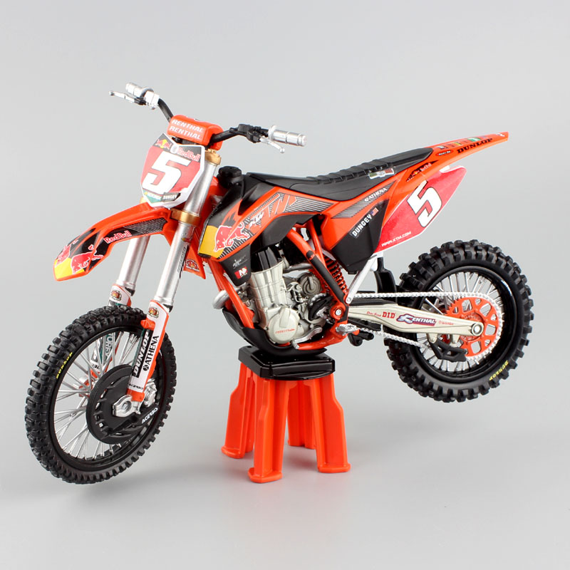 1:12 Scale KTM SX-F 450 SXF Moto Racing No.5 Ryan Dungey AMA Supercross Motocross Bike Motorcycle Die Cast Model Enduro Toy Cars