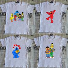 2018 new Sesame Street cartoon child t shirt for boys and girls 8 9 10 11 12 years
