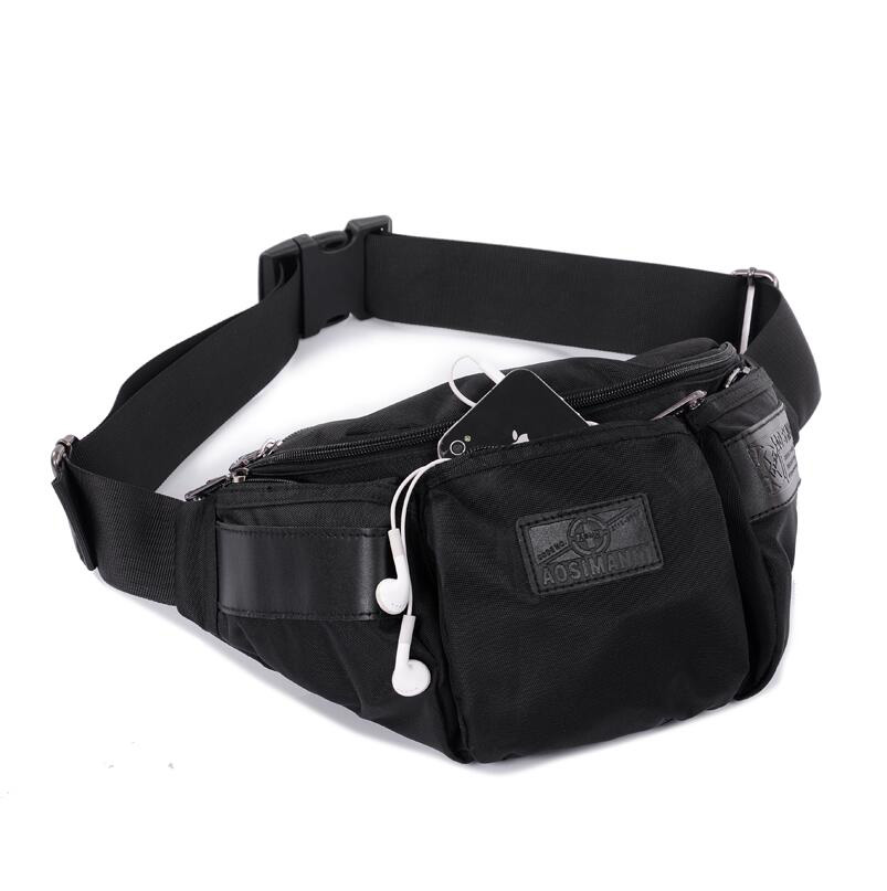 Outdoor Tactical Waist Pack Special Duty Weapons Tactics Sport Ride Motorcycle Waterproof Drop Utility Waist Pouch Black