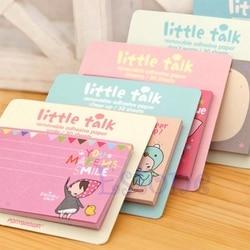 1Pc New Random Cute Little Talk Girl Sticker Memo Pads Point It Notes 30 Sheets